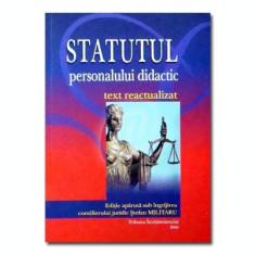 Statutul personalului didactic - text reactualizat
