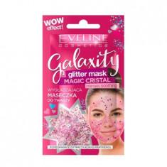 Masca de fata cu sclipici Eveline Cosmetics, Galaxity Magic Cristal 10 ml