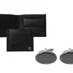 Portofel Christian Lacroix piele naturala si butoni Fume Desk Elegance by Borealy