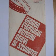 Film / Cinema - Zilele filmului pentru elevi si studenti12-18 sept 1988, brosura