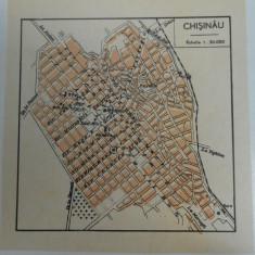 Harta Chisinau, 1920, 13x12 cm, scara 1:30.000
