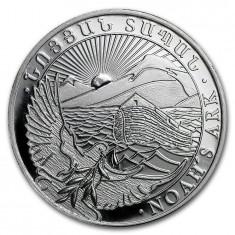 Moneda argint 999 lingou , Arca lui Noe Armenia 1/4 uncie 7, 8 grame
