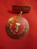 Insigna Institutul Medico-Farmaceutic Bucuresti Promotia 1951 - 30 Ani metal si