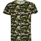 Tricou camuflaj Marlo, L, M, S, XL, XXL, Verde, Bumbac