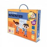 Carte de activitati Invata totul despre matematica Sassi, 56 piese, 32 pagini, limba engleza, 6 ani+