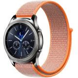 Cumpara ieftin Curea ceas Smartwatch Samsung Gear S3, iUni 22 mm Soft Nylon Sport, Electric Orange