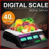 Cantar Electronic piata magazin Digital AFISAJ DUBLU 40 kg