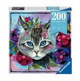 Puzzle Ravensburger - Ochi de pisica, 200 piese