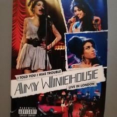 Amy Winehouse - Live in London (2007/Universal/EU) - DVD ORIGINAL/Nou