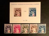 ROMANIA  -  CRUCEA  ROSIE , 1941 , serie si colita