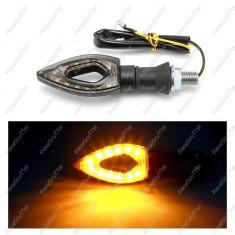 Set 2 Semnale - Semnalizari Moto Scuter - LED ( carbon )