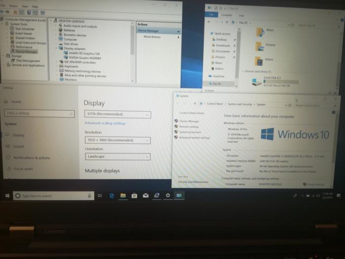 """Workstation ThinkPad P50 15.6,""""  i7-6820HQ ,8GB DDR4, 480SSD"""