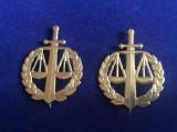 Insigne România - Petlițe militare pentru ținuta de oraș - Justitie Militară