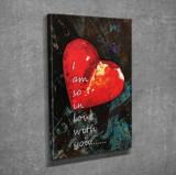 Tablou decorativ, Vega, Canvas 100 procente, lemn 100 procente, 30 x 40 cm, 265VGA1049, Multicolor