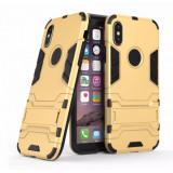 Husa hibrid g-shock pentru iphone 10 / X / XS, auriu