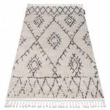 Covor Berber Fez G0535 cremă si maro Franjuri shaggy pletos, 60x200 cm