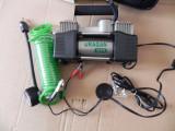 Compresor aer roti pompa electrica auto profesional 12V 2 cilindri