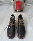 Bocanci bărbați TIMBERLAND,43/27.5cm anti fatigue originali, piele wateproof,NOI, 43.5, Maro
