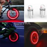 Set 2 capace, capacele ventil LED Culoare Rosu cu pornire automata