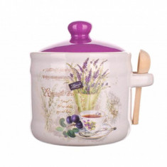 Recipient cu capac si lingurita Lavender and Tea