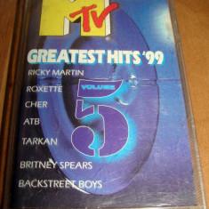 caseta audio - mtv greatest hits, ricky martin, roxette,  enrique iglesias, cher