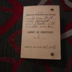carnet de identitate pentru elev de la scoala de 7 clase an 1957 c18