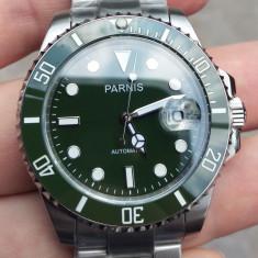 """Ceas Parnis Submariner """"Hulk"""" 40 mm japonez Citizen Miyota 8215 geam Safir"""