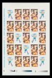 2001 Romania - Gheorghe Hagi coala de 18 marci + 7 viniete LP 1548 b, MNH