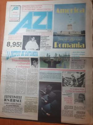 ziarul azi 2 septembrie 1991- america priveste altfel romania foto