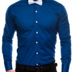 Camasa eleganta barbati K309 - bleumarin