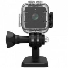 Mini Camera Spion iUni SQ12, Full HD 1080p, Audio Video, Night Vision, Unghi filmare 155 grade