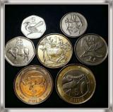 Lot 7 monede de colectie UNC Botswana, Africa