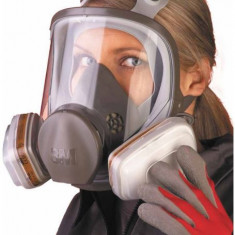 Set masca de protectie respiratorie  3M 6800 + filtre + prefiltre + capace