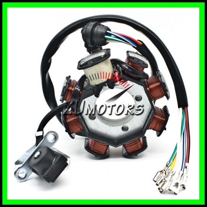 Bobina Magnetou ATV 125cc 150cc 200cc 250cc 8 Bobine 5 Fire