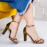 Sandale Lesira verzi cu toc-rl