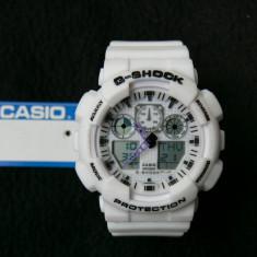 CEAS SPORT CASIO G-SHOCK GA-100 WHITE DESIGN-NOU-BACKLIGHT-CALITATE PESTE PRET-