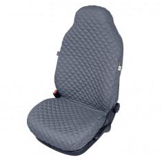 Husa scaun auto COMFORT pentru Fiat 500, culoare gri, bumbac + polyester