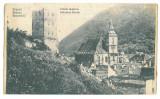 4949 - BRASOV, Black Church, Romania - old postcard, CENSOR - used - 1917