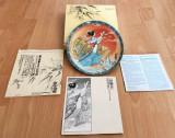 Farfurie - decoartiva / colectie - Imperial Jingdezhen China - 1989 - certificat