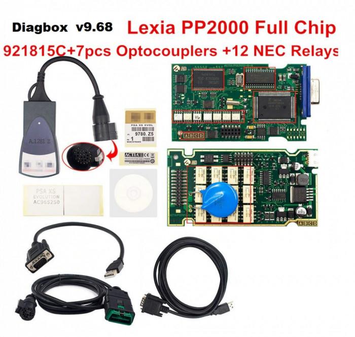Interfata Citroen Peugeot, Lexia full chipset, Diagbox v9.68, 921815 C