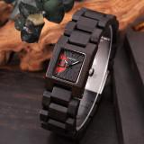 Cumpara ieftin Ceas din lemn Bobo Bird cu curea din lemn S02-1