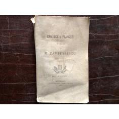 CANTECE SI PLANGERI , POESII DE M. ZAMPHIRESCU 1860 - 1873 , ED. A III A , BUCURESTI 1881
