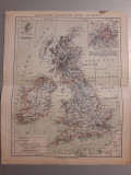 Harta germana anul 1896 veche