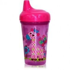 Cana cu Cioc Ergonomic Zoo 300 ml Pink