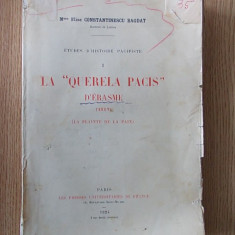 ELISE CONSTANTINESCU BOGDAN- LA QUERELLA PACIS- 1924