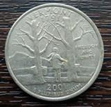 (M2364) MONEDA SUA - QUARTER DOLLAR 2001, LIT. D - VERMONT, America de Nord