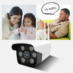 Camera de supraveghere video WIFI de exterior, camera wireless cu infrarosu, Camera IP, ICANSEE