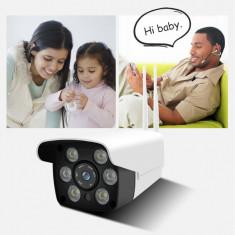 Camera de supraveghere video WIFI de exterior, camera wireless cu infrarosu