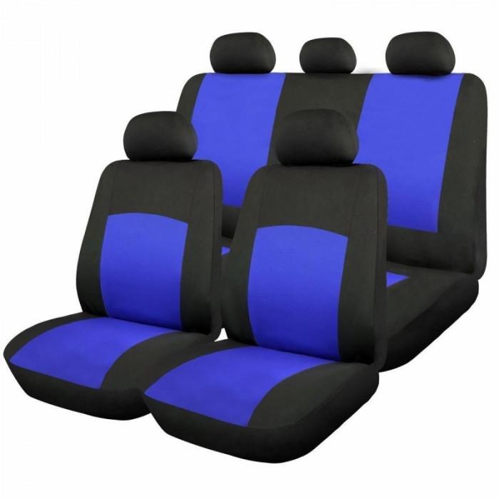 Huse scaune auto RoGroup Oxford, 9 bucati, universale, albastru