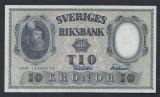A5172 Sweden Suedia 10 kronor 1958 SEMNATURI DIFERITE aUNC